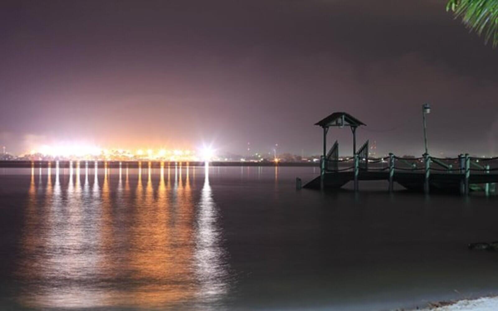 Vista del muelle de puerto